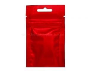 Bolsa de tres lados roja con de 3 gramos