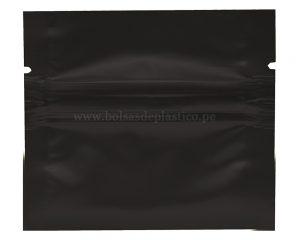 Bolso de sellado lateral negro de 1 gm