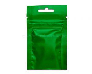Bolso de tres lados verde con de 3 gramos